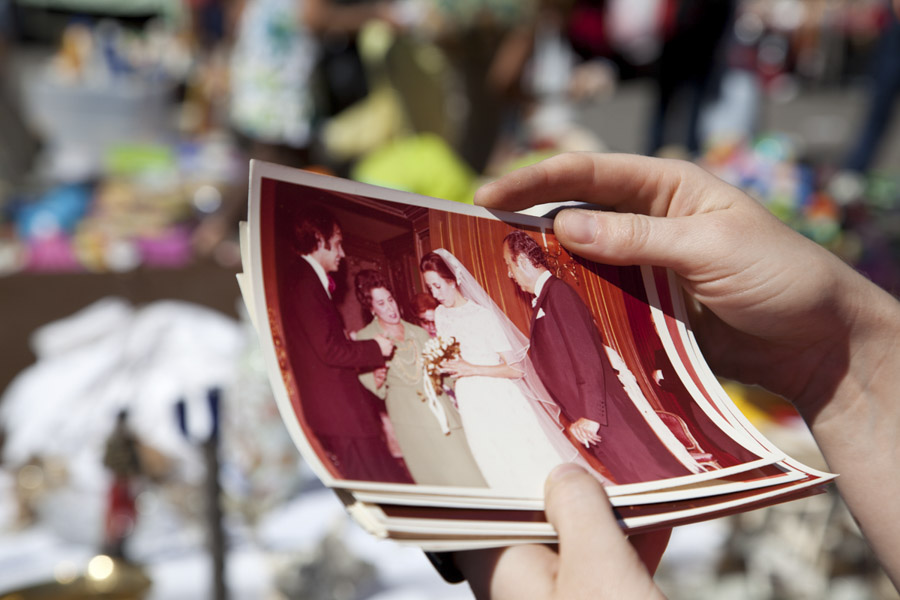 Old anonymous discarded Spanish wedding photographs
